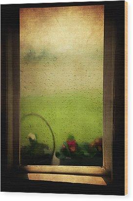 Et Peu A Peu Les Flots Respiraient Comme On Pleure Wood Print by Taylan Apukovska