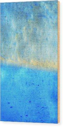 Eternal Blue - Blue Abstract Art By Sharon Cummings Wood Print by Sharon Cummings