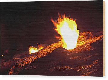 Wood Print featuring the photograph Eternal Flames by David Isaacson