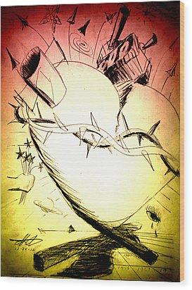 Eternal Heart - First Of Series Wood Print by David De Los Angeles
