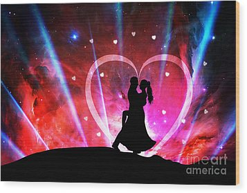 Eternal Love Wood Print by Phill Petrovic