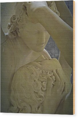Eternal Love - Psyche Revived By Cupid's Kiss - Louvre - Paris Wood Print by Marianna Mills