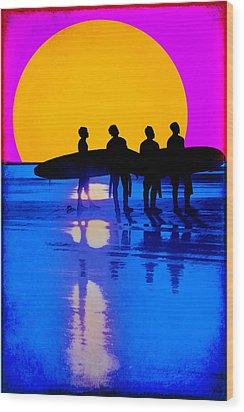 Eternal Summer Wood Print by Lisa Knechtel