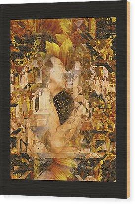 Eternally Yours Wood Print by Kurt Van Wagner