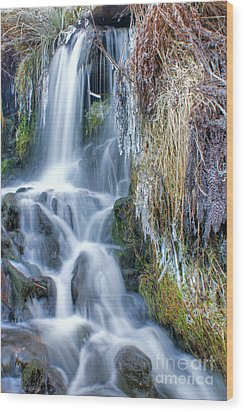 Ethereal Flow Wood Print
