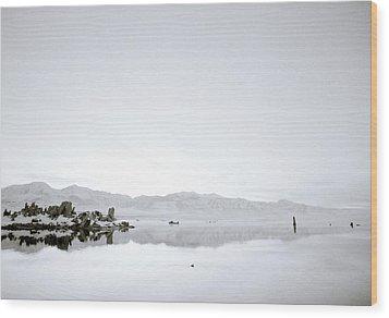 Ethereal Mono Lake Wood Print by Shaun Higson