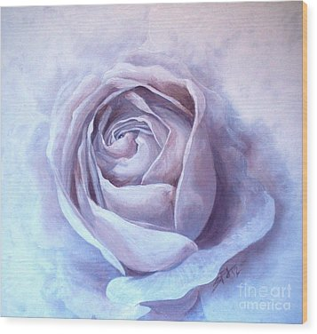 Wood Print featuring the painting Ethereal Rose by Sandra Phryce-Jones