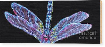 Ethereal Wings Of Blue Wood Print by Kimberlee Baxter