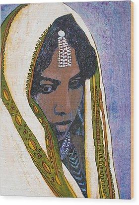 Ethiopian Woman Wood Print by J W Kelly
