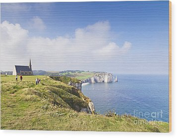 Etretat Wood Print by Colin and Linda McKie
