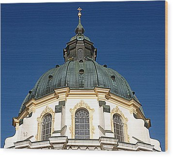 Ettal Abbey Bavaria Wood Print by The Creative Minds Art and Photography