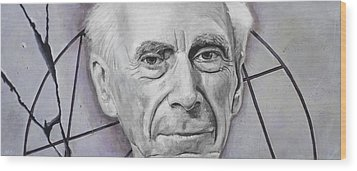 Euclid- Bertrand Russell Wood Print by Simon Kregar