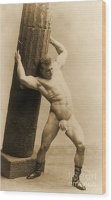Eugen Sandow Wood Print by American School