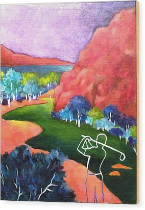 Euphoria - Golf Series Wood Print by Betty M M   Wong