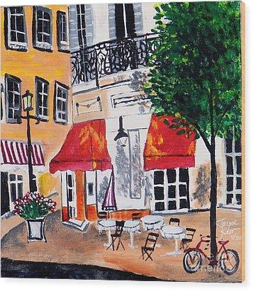 Euro Cafe Wood Print