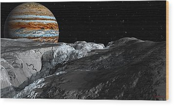 Europa Icefields Wood Print by David Robinson