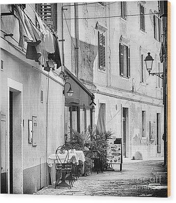 European Street Scene Wood Print