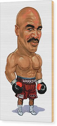 Evander Holyfield Wood Print by Art
