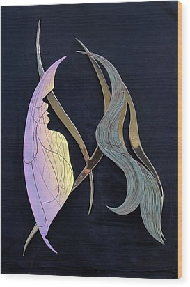 Wood Print featuring the sculpture Eve by Dan Redmon