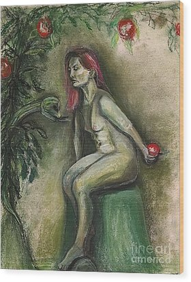 Eve In The Garden  Wood Print by Gabrielle Wilson-Sealy