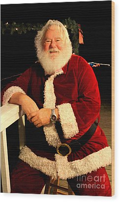 Even Santa Needs A Break Wood Print