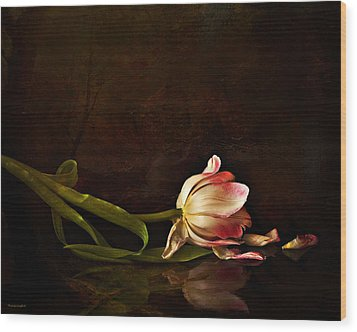 Even Though A Flower Fades Wood Print by Theresa Tahara