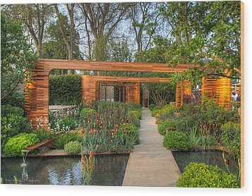 Wood Print featuring the photograph Evening At Chelsea Flower Show by Ross Henton