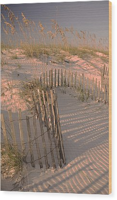 Evening At The Beach Wood Print by Maria Suhr
