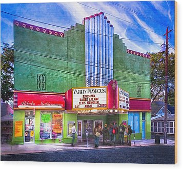 Evening At The Variety Playhouse - Atlanta Wood Print by Mark E Tisdale