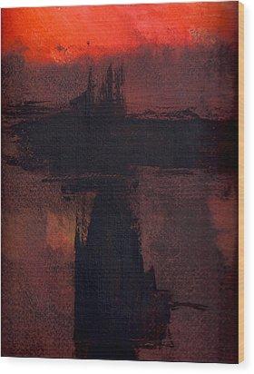 Evening Bridge Wood Print by Richard Hinger