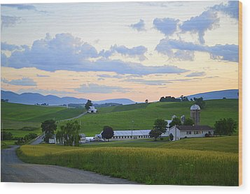 Evening Countryside #1 - Millmont Pa Wood Print