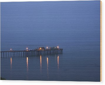 Evening Enters Capitola Wood Print by Lora Lee Chapman