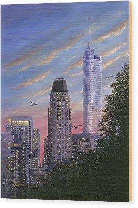 Evening Flight Wood Print by Doug Kreuger
