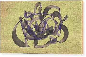 Evening Flight Wood Print by Marian Palucci-Lonzetta