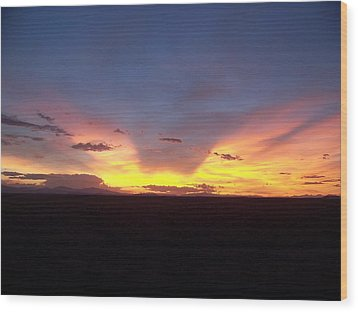 Wood Print featuring the photograph Evening Glow by Sheri Keith