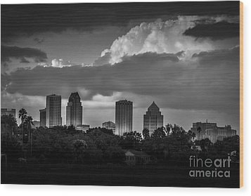 Evening Gray Wood Print by Marvin Spates