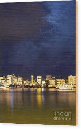 Evening In Ezbet El-borg Wood Print