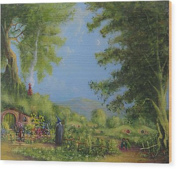 Evening In The Shire. Wood Print by Joe  Gilronan