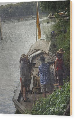 Wood Print featuring the photograph Evening Landing by Pete Hellmann