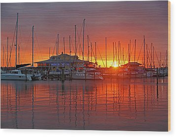 Wood Print featuring the photograph Evening Light by HH Photography of Florida