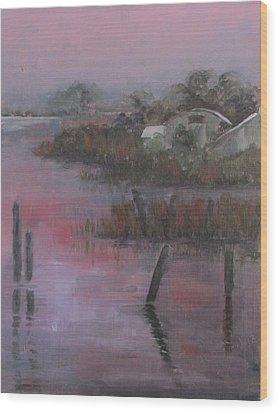 Evening Light Wood Print by Susan Richardson
