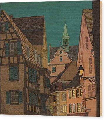 Evening Wood Print