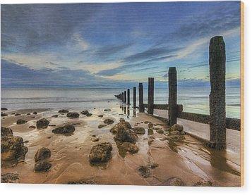 Evening Ocean Wood Print