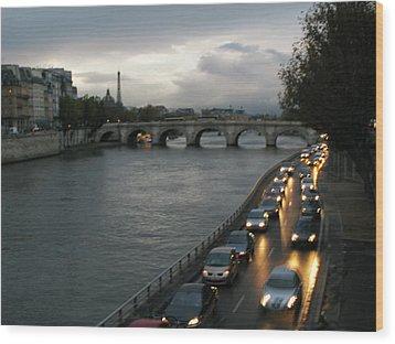 Evening On Pont Au Change  Wood Print by Joe Schofield
