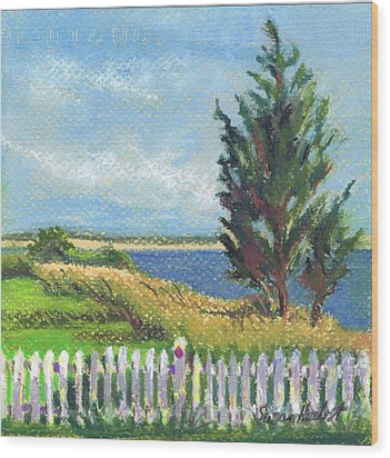 Evening Orient And Peconic Bay Wood Print by Susan Herbst