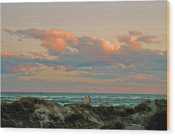 Wood Print featuring the photograph Evening Pastel by Allen Carroll