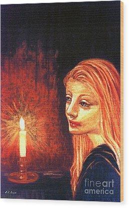 Evening Prayer Wood Print by Jane Small