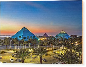 Evening Pyramids Wood Print by Tim Stanley