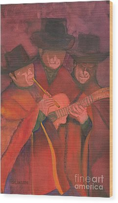 Wood Print featuring the painting Evening Serenade by Sandy Linden