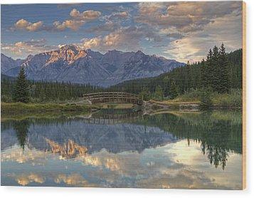 Evening Solitude At Cascade Ponds Wood Print